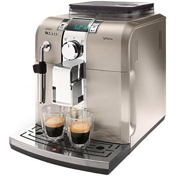 Philips Saeco - Cafetera Espresso Syntia Inox Hd883701 Automatica Programable,15 Bares, Deposito Agua 1,2L, Pantalla Led, Tubo Vapor Agua Inox. Totalmente En Inox.: Amazon.es: Hogar