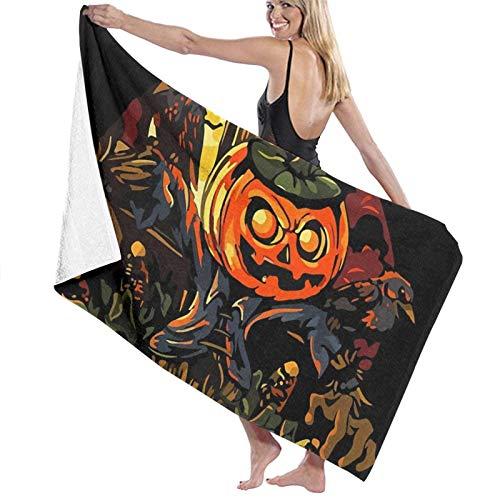 XCNGG Halloween Scarecrow Calidad Toallas de baño Toallas de Playa Toalla de Camping Suave y Absorbente
