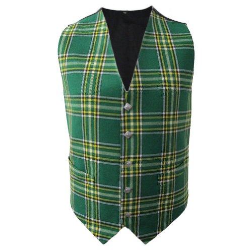 Tartanista - Herren Weste mit Tartanmuster - irischer Stil - Irish National - Brust: 107 cm