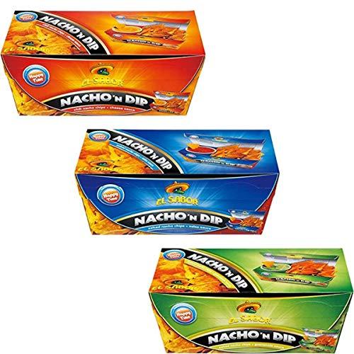 エルサボール ナチョディップ サルサ チーズ アボカト 175g 1箱ずつ (合計3箱セット)