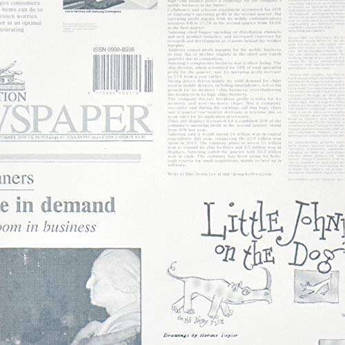 壁紙屋本舗 水で貼って はがせる 壁紙 ミズハルくん 英字新聞柄 7枚セット