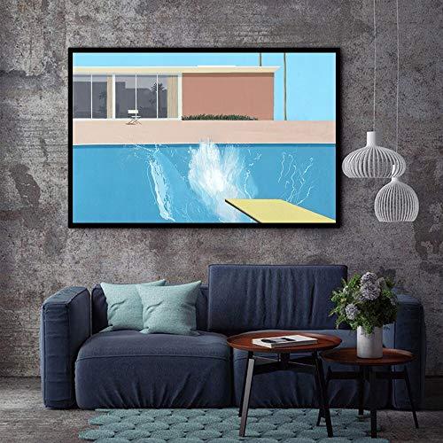wZUN Artista Art Poster Top Canvas Painting Family Dormitorio Decoración Wall Picture Impresión 60x80 Sin Marco