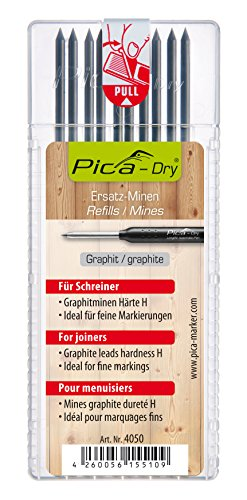 Pica 4050 10 Minen Dry Pack Graphit H (mit Blister), Stück