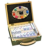 Masters Traditional Games Double 15 Dominoes - Mexican Train Dominoes in Wooden Case -
