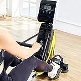 Ruderzugmaschine mit Rudergerät Mute Bauchbrust Arm Fitnesstraining Körper Glider Rudern Home Gym Fitnessausrüstung (Farbe : Schwarz, Größe : Einheitsgröße) - 3