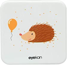 Drawihi Mini Caja Portatil Lentillas Twin Estuche para Gafas y lentillas Caja de Lentes Viaje para Lentes de Contacto Tamano de Bolsillo con para lentillas, para líquidos y Pinzas(Erizo Cuadrado)