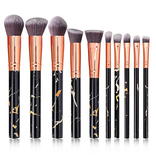 WWLZ Make-up Borstels 10 Stks Setmarble Vorm Borstel Goed uitziende Poeder Stichting Eyeshadow Lip Eyeliner Blush Beauty Tool