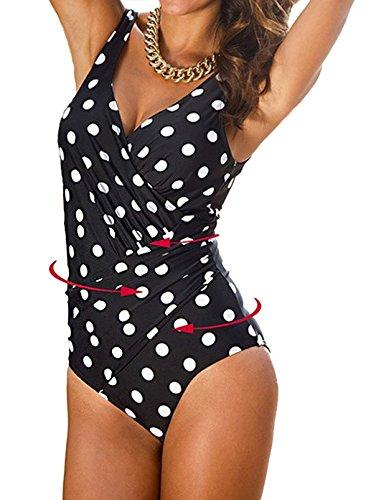 Minetom Mujeres 1 Pieza Bikini Push Up Traje De Baño Ropa De Playa Verano Bañador Atractivo Beach Señoras Slim Abdomen Biquinis Natación