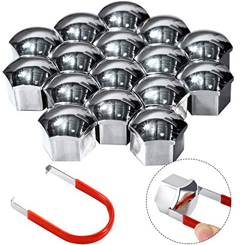 Bememo 20 Stücke Radmutter Kappe Universal Reifen Mutter Abdeckungen mit Entfernung Werkzeug Set für Autos