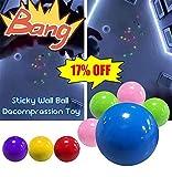YUYON 4 Bolas De Diana Fluorescentes Adhesivas, Bolas De Calabaza Adhesivas De Descompresión, Adecuadas para Juguetes De Niños Adultos (45 Mm),Multi-Colored