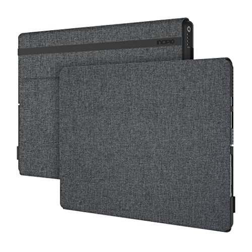 Incipio Esquire Series Folio Case fits both Microsoft Surface Pro (2017) and Surface Pro 4 - Gray
