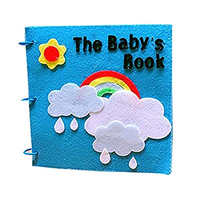 Soft Baby Cloth Books,Touch and Feel Crinkle Tail Books, Machine Washable, for Girls and Boys - Best for Babies & Toddlers, All Ages)