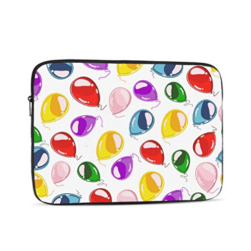 Mac Book Air Covers Colorful Balloons Seamless On White Mackbook Pro Case Multi-Color & Size Choices10/12/13/15/17 Inch Computer Tablet Briefcase Carrying Bag