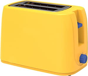 Automatic Electric Toaster, 2 Slices Slot Toast Baking Oven Grill Heater Mini Sandwich Breakfast Machine Bread Maker, 800W,220V,Yellow