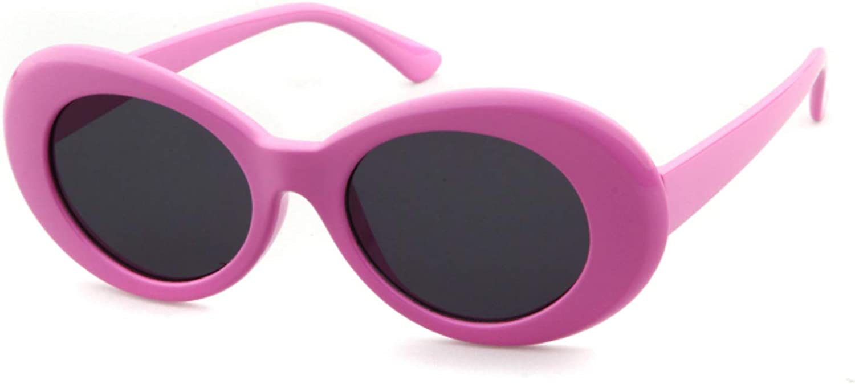 ADEWU Clout Goggles, Lunettes de Soleil Ovales Pink