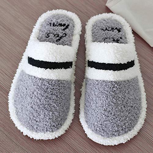 direction Zapatos Unisex,Zapatillas de algodón de Fondo Suave Antideslizantes para el hogar de Pareja de otoño e Invierno-6_45-46,Cómodo