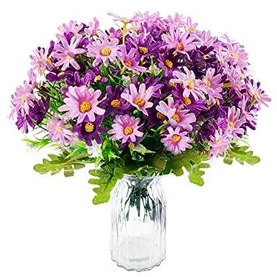 Silk Daisy Artificial Wildflowers Greenery Shrubs Plants 6