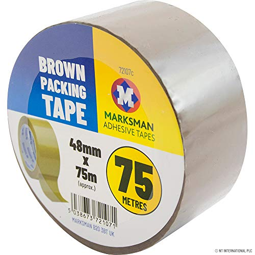 3PC STRONG BROWN PARCEL PACKING PACKAGING TAPE SELLOTAPE CARTON SEALING 75M NEW