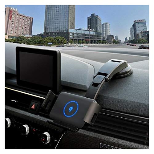 LIUWEI Cargador de coche inalámbrico de 15 W, soporte de montaje para teléfono XiaoMi Samsung Galaxy Fold Galaxy Z Fold 2 iPhone 12 (nombre del color: negro)