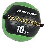 Tunturi Medizinball Soft 10kg grün schwarz undynamisch Gewichtsball