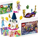 LEGO Invitation to The Enchanted Ball Disney Princess with Cinderella's Castle & Mini Figure Bundled with Building Kit Rapunzel's Lantern Boat & Stickers 2-Pack