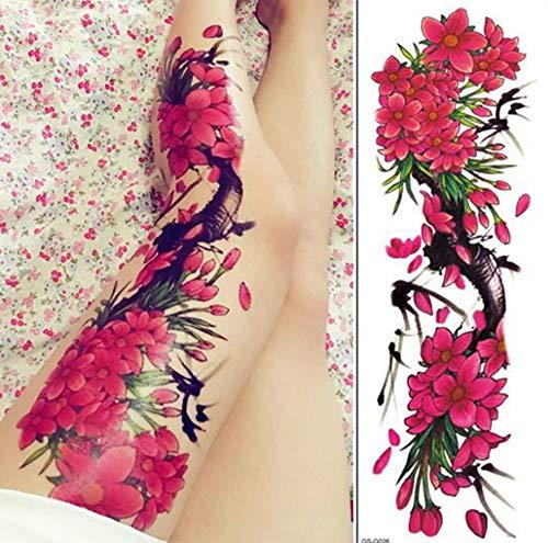 EROSPA® Tattoo-Bogen temporär - Bein Oberschenkel - Frauen Männer - Wasserfest