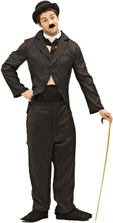 1920s Men's Costumes: Gatsby, Gangster, Peaky Blinders, Mobster, Mafia Orion Costumes Mens Charlie Chaplin 1920s Silent Movie Star Fancy Dress Costume Black  AT vintagedancer.com