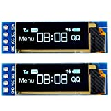 MakerHawk 2pcs I2C OLED Module d'affichage 0.91 Pouces I2C SSD1306 Module d'affichage OLED Bleu I2C Pilote d'écran OLED DC 3.3V ~ 5V pour Arduino