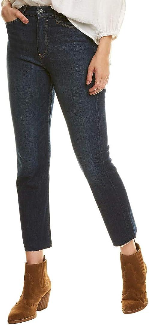 HUDSON Women's Holly High Rise, Cropped, Straight Leg Jean
