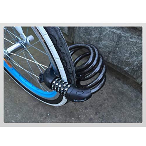ZHTY Heavy Duty 120cm Combination Bike Lock Candado de Cable Candado de...