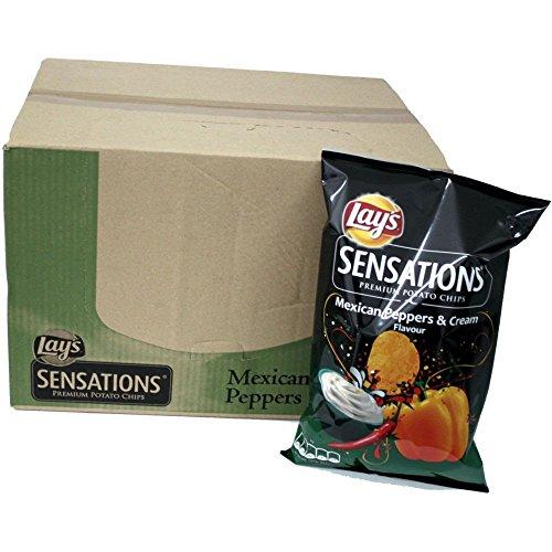 Lays Chips Sensations Mexican Pepper & Cream 9 x 150g Karton (Peperoni & Sauerrahm)