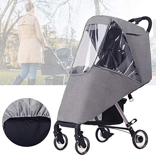 Housse de pluie pour poussette Chen0-super Baby, Housse de pluie transparente pour poussette landau, protection anti-intempéries imperméable, fenêtre avant et ventilation latérale pour bébé   Sans PVC