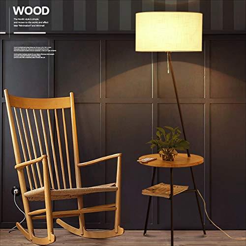 Floor Stand Lights - Lámpara de pie de Madera de Estilo japonés, lámpara de Mesa de café, lámpara de pie, de Estilo japonés, con Estante, Regalo, Bombilla de lámpara LED de 5W -415