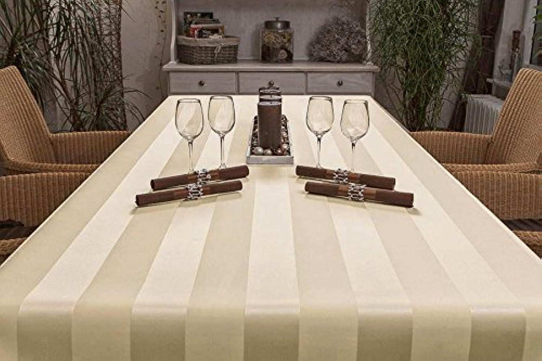 ODERTEX Exclusive Tischdecke eckig aus Deutscher Produktion mit LOTUSEFFEKT, pflegeleicht Mailand Farbe  Sand-beige Ma 120x270 cm, GRATIS Lieferung innerhalb Deutschlands