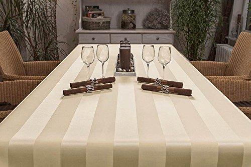 ODERTEX Tischdecke fleckabweisende Beschichtung Form und Größe sowie Farbe wählbar Mailand-sand-beige-10x18