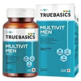 TrueBasics Multivit Men One Daily, Multivitamins, Multiminerals, Omega-3, Nutrition Supplement for Energy, Immunity