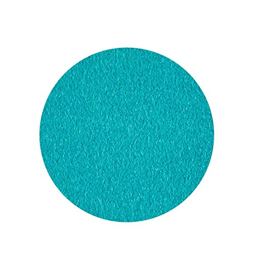 ESTA-Design Schurwoll Dessous de Verre Rond 100% Feutre mérinos Turquoise 5 mm Ø 15 cm