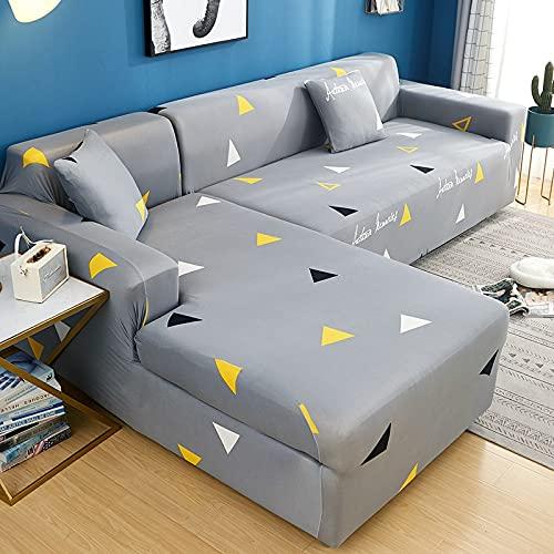 WXQY Elastischer Sofabezug ist geeignet für allgemeine Sofa modulare L-förmige Sofabezug fest gewickelt Rutschfester Sofabezug A3 1 Sitzer
