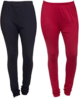f8a67f8a43cec Aashish Fabrics Women's Plus Size Cotton Lycra Churidar Leggings (Pack of  ...