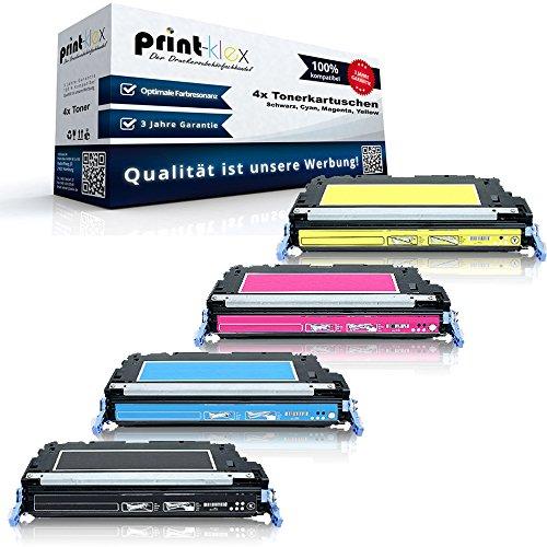 Print-Klex 4x Kompatible Tonerkartuschen für HP Color LaserJet 3600 Color LaserJet 3600 DN Color LaserJet 3600 N Q6470A Q6471A Q6472A Q6473A HP 501A 502A Sparset