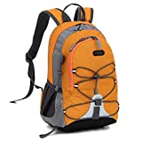 Small Size Waterproof Sport Backpack,10 inches Outdoor Daypack,Suitable for Height Under 4 feet,for Girl Boy Traveling (Orange)