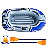 Boat Raft, Seahawk Inflatable Set,Inflatable Dinghy Rowing Boats For Adults Rubber Dingy Bat-Inflatable Kayak Canoe Fishing,Thickened Fishing Tear-resistant Foldable 2-person Drifting Boat