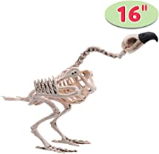 """Halloween Decoration 16"""" Pose-N-Stay Vulture Skeleton Plastic Bones with Posable Joints for Pose Skeleton Prop Indoor / Outdoor Spooky Scene Party Favors Décor."""