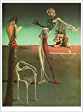 Poster Woman with A Head of Roses. Salvadore Dali. Art Print Reproduction (16.2' x 21.5')
