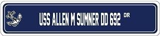 USS ALLEN M SUMNER DD 692 Street Sign DESTROYER Navy Ship Veteran Sailor