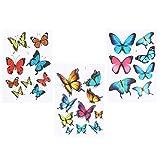 3 Stück Schmetterlinge Autoaufkleber Bunt thumbnail