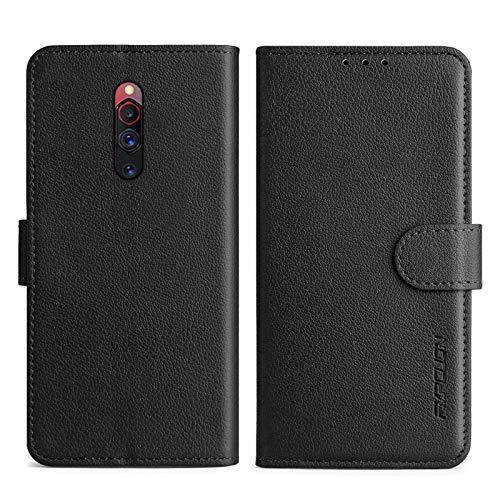 FMPCUON Cover Compatibile ZTE Nubia Red Magic 5G,con Slot Custodia Protettiva Magnetica Flip Cover Bumper Portafoglio Fondina Antiurto Case,Nero