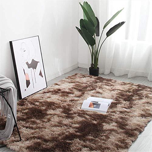 Sarah Duke Tapis en peluche Shaggy Tapis moelleux à poils longs Gris Grand pour salon, chambre à coucher, salle à manger, voiture, descente de lit, canapé Tapis ultra doux (marron, 200 x 300 cm)