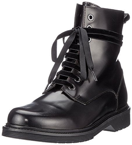 Liebeskind Berlin Damen LW175260 Nappa Combat Boots, Rot (Oil Black with Red Brush), 41 EU