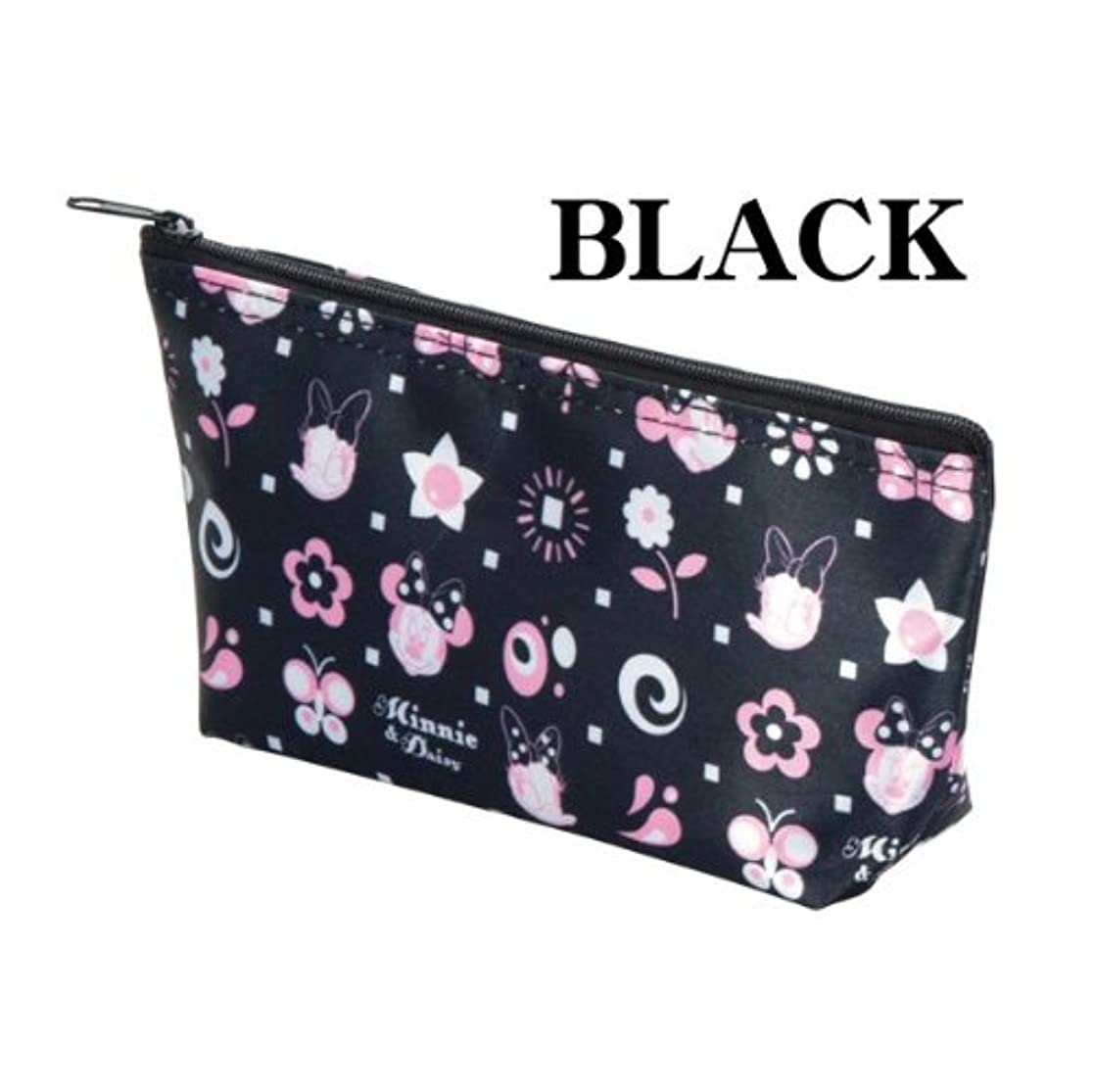 起点黙塊Disney(ディズニー) スイートキャラクターポーチ(ピンク?ブラック) (ブラック)